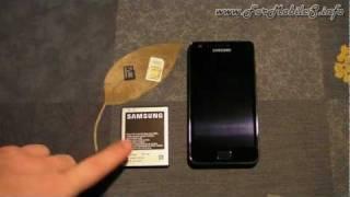 Samsung Galaxy S2 (GT-I9100) Inserimento SIM, MicroSD