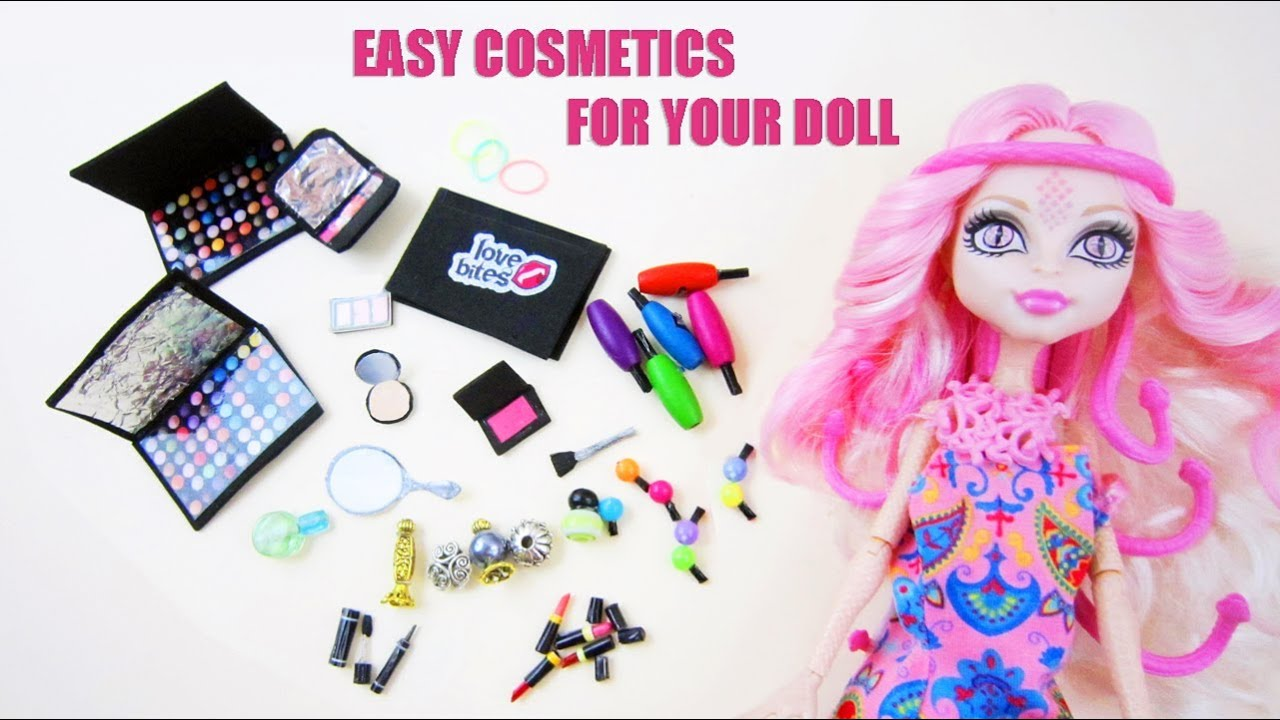 Make Doll Cosmetics Doll Crafts Youtube