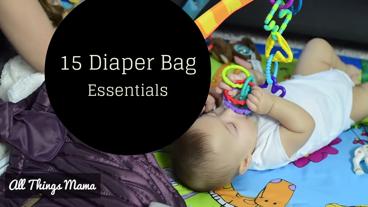what 39 s in my diaper bag my 15 baby essentials youtube. Black Bedroom Furniture Sets. Home Design Ideas