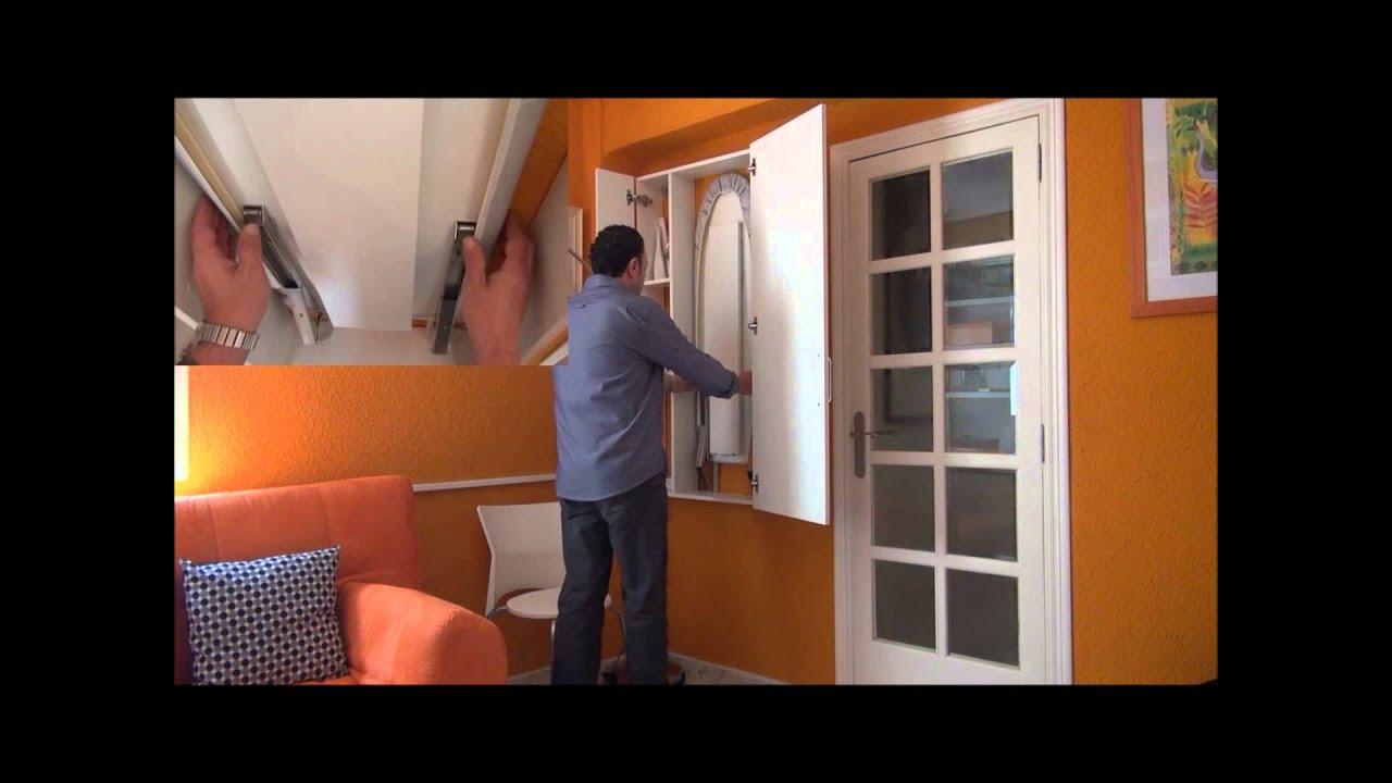Mueble tabla de planchar con escuadra vertical youtube - Mueble tabla de planchar ...