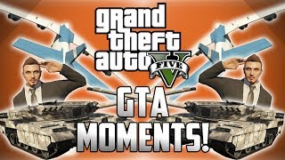GTA 5 Online Funny Moments! - Teleporting Tank Glitch, Massive Planes, Blimps and Flying Bikes!