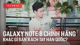 Galaxy Note 8 chính hãng Việt Nam khác gì với bản Hàn Quốc