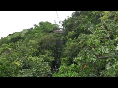 Tram up Mystic Mountain in Jamaica.