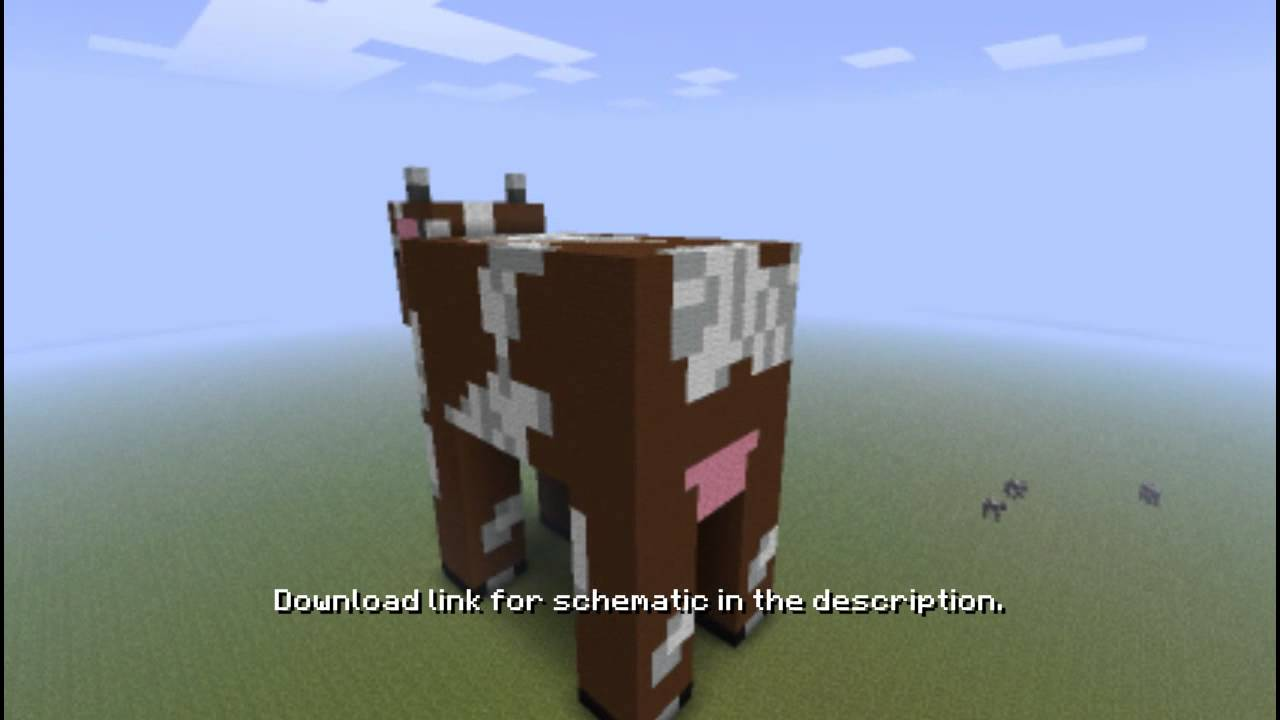 Minecraft - Giant Cow with download - YouTube