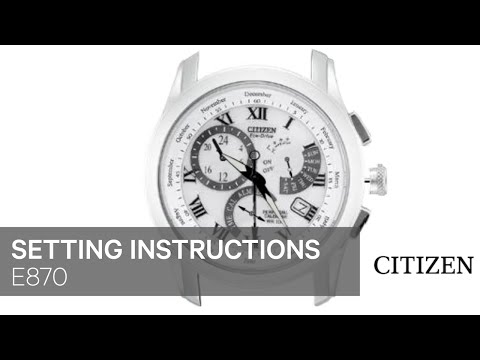 How to Set a Citizen Skyhawk Eco Drive Watch   Our ...