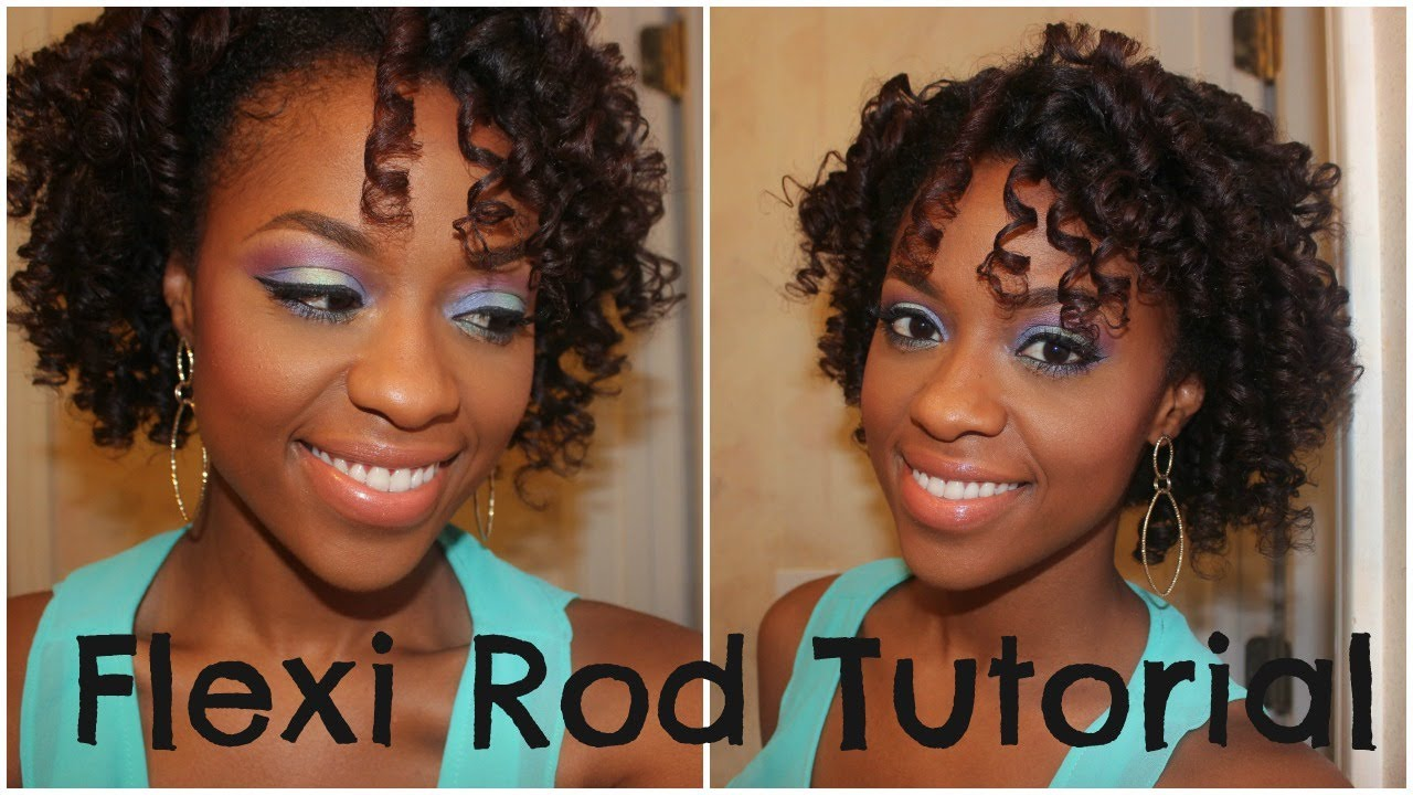 how to put flexi rods in natural hair