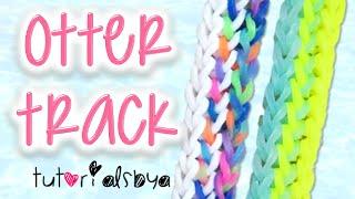 NEW Otter Track Rainbow Loom Bracelet Tutorial How To