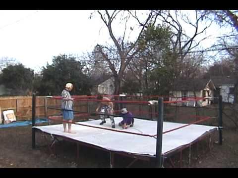 wrestling ring backyard