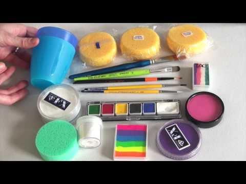 Produkten und Grundausstattung für Anfänger / Kinderschminken lernen TEIL 1