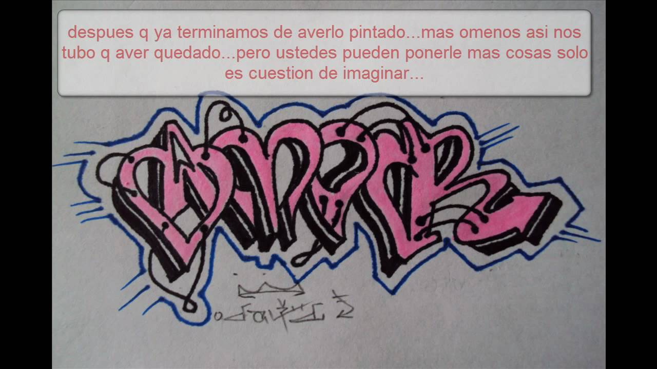 como hacer un graffiti facil y sencillo - YouTube
