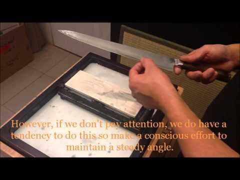How to sharpen Takamura knives