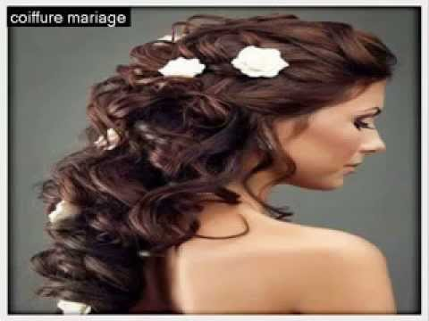 coiffure de mariage 2014 - coiffure de mariage cheveux mi long, cheveux courts - YouTube
