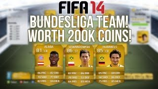 Fifa 14 Ultimate Team 200k Bundesliga Squad Builder