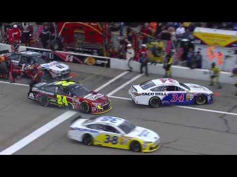 Close call for Jeff Gordon on pit road @ 2013 Sylvania 300