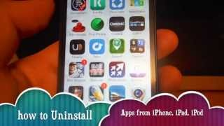 How To Uninstall Apps In IPhone 5S IPhone 5C IPhone 5