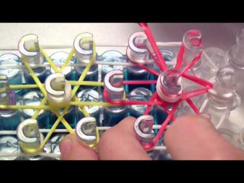 Instrukcja po polsku jak zrobić bransoletkę z gumek - wzór
