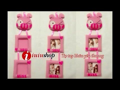 IUIU SHOP Hướng dẫn cách làm khung ảnh Hello Kitty handmade từ vải dạ nỉ xinh xắn đáng yêu kute