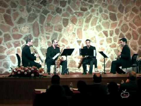 Quatuor. V mov. I. Gotkovsky. Cuarteto de Saxofones Octavia. Final Pedro Bote 2010.mpeg