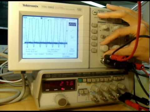 Oscilloscope And Function Generator Tutorial Youtube