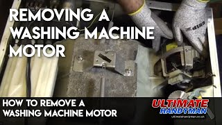 How to remove a washing machine motor