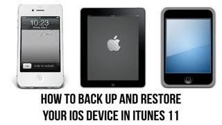 ITunes 11 Tutorial How To Back Up Your IPhone, IPad, Or