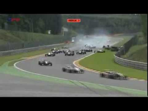 Horrific Start Crash @ 2013 F3 Open Spa Race 2