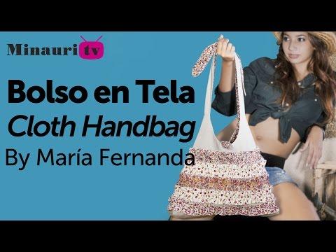 DIY - Bolso en Tela #10 by Minauri ( How to make fabric handbag ) ( sew / purse / wallet / tote )