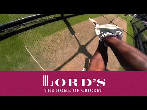 GoPro batting - Brian Lara in the nets with Muralitharan at Lord's | Access All Areas