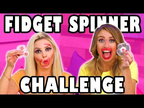Fidget Spinner Toy Challenge with Jenn and Lindsey. Totally TV