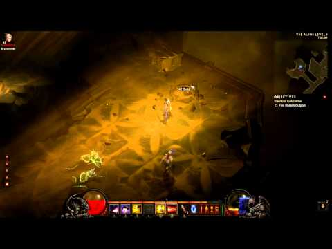 [Diablo 3 Walkthrough] Demon Hunter - Act 2 - Part 5 - The Ruins Level 1 (Dungeon)