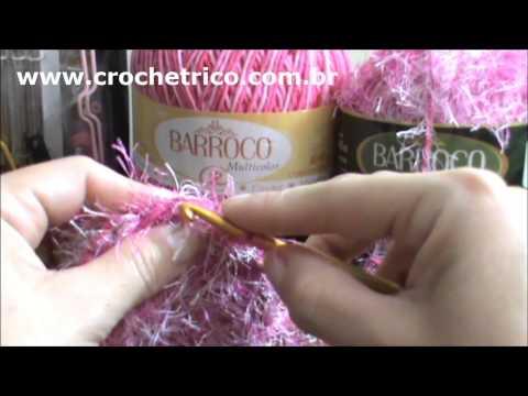 Crochê - Tapete Barroco em Ponto Escama - Parte 01/05