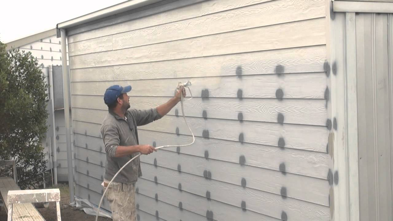 How To Spray A House Airless Spray Painting Exterior Walls Youtube