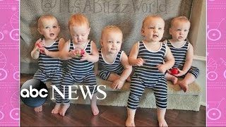 America's First All-Female Quintuplets Visit on 'GMA'