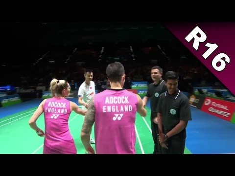 Yonex All England Open 2017 | Badminton R16 | Xu/Du vs Adc/Adc [HD]