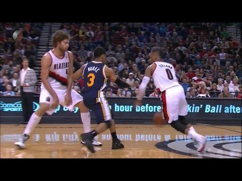 Trey Burke vs Damian Lillard Full Highlights 2014.02.21 Jazz at Blazers - 49 Pts, 14 Assists