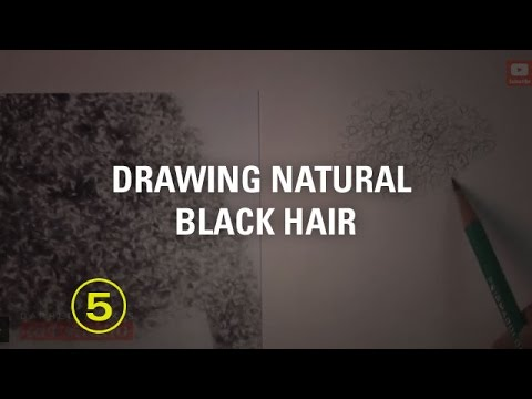 DRAWING CURLY BLACK HAIR (Art Studio Lesson 29 Excerpt)