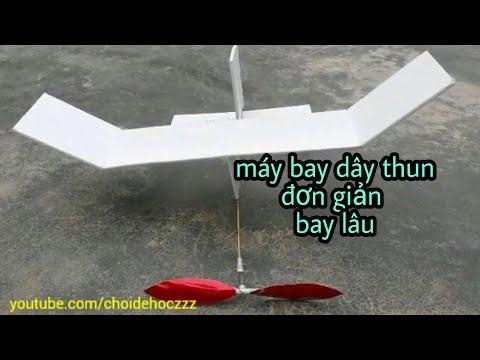 cách làm máy bay chạy dây thun đơn giản bay rất lâu và đẹp