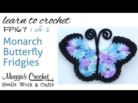 Free Crochet Pattern FP167 Monarch Butterfly Fridgies - Part 1 of 2