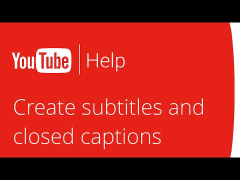 Creating subtitles and closed captions