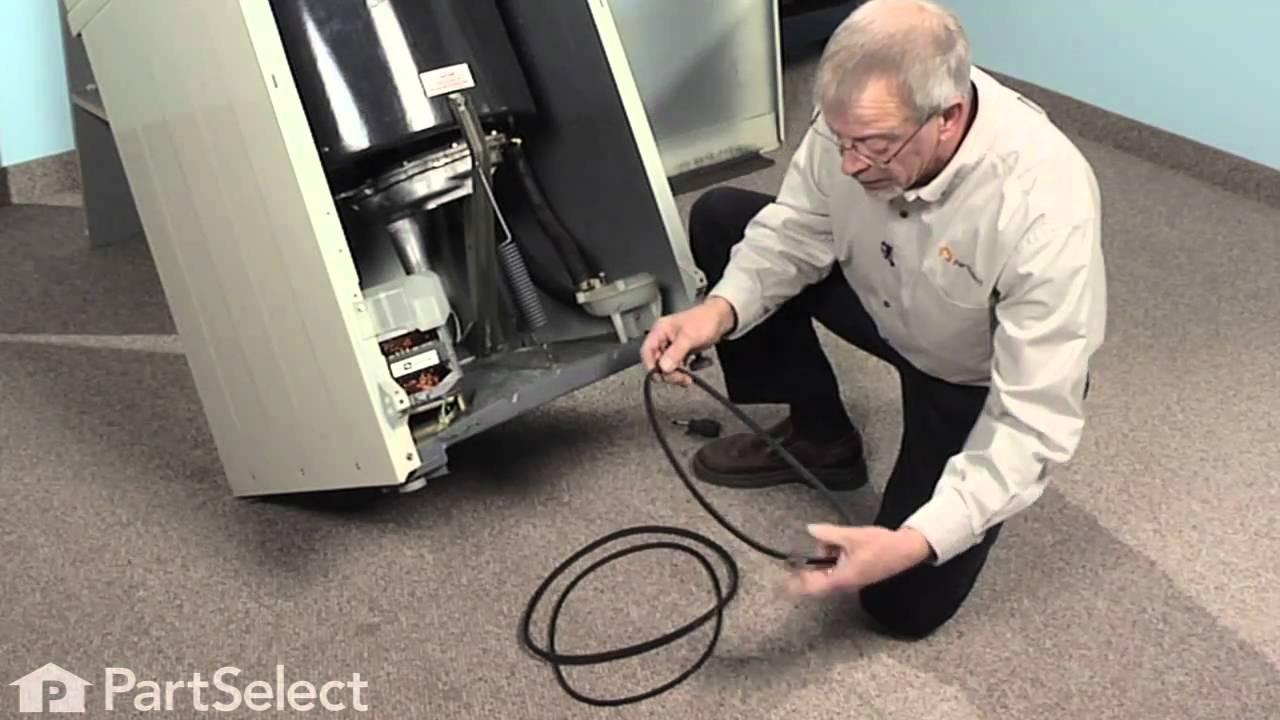 Washer Repair Replacing The Drive Belt Whirlpool Part