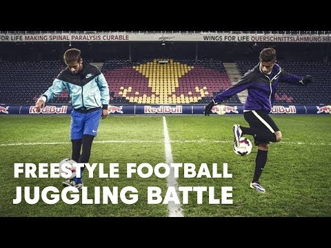 Freestyle football juggling battle - Neymar Jr vs Hachim Mastour