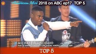 """Michael J. Woodard sings  """"Flat on the Floor"""" American Idol 2018 Top 5"""
