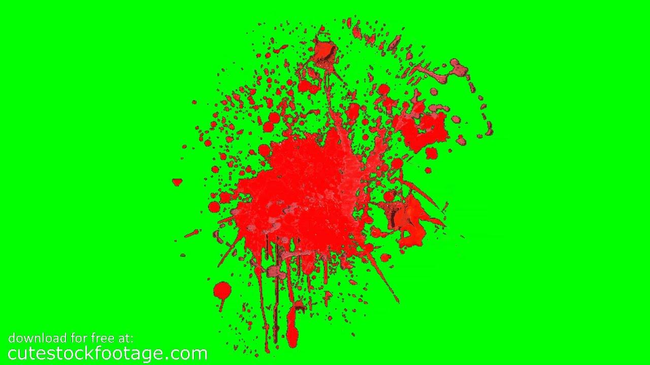 Blood splatter 12 hd chroma key footage youtube