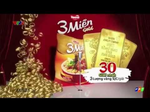 Quảng Cáo Mì 3 Miền Gold mới nhất năm 2015 - Mở nắp trúng vàng