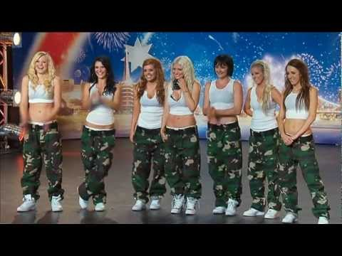 Jasmine Meakin & The Mega Jam Dancers - Australia's Got Talent 2012 -LE9MzDDiK8Q