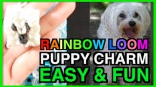 Easy Rainbow Loom Charms Animals PUPPY DOG Designs And