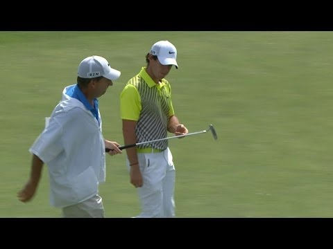 Rory McIlroy's great approach sets up birdie at the Memorial in Round 4