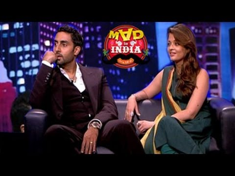 Aishwarya Rai & Abhishek Bachchan on Mad In India 16th March 2014 Episode
