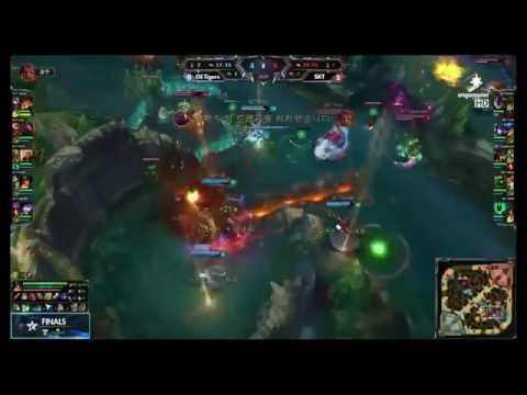 Những pha combat lmht 2015 hay nhất SKT T1 vs GE Tigers TRẬN 3   YouTube