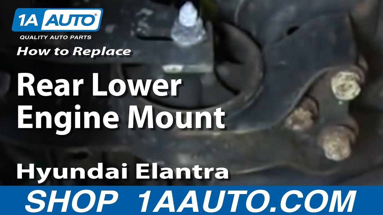 How To Replace Install Rear Lower Engine Mount 2001